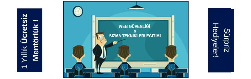 Web Güvenliği & Sızma Teknikleri Eğitimi - İlk eğitime özel indirim!